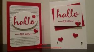 Karte Valentinstag Hallo mein Schatz